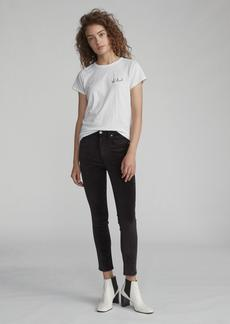 rag & bone HIGH RISE VELVET SKINNY