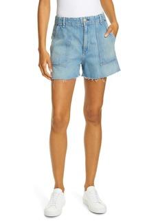 rag & bone High Waist Army Shorts (Clean Frant)