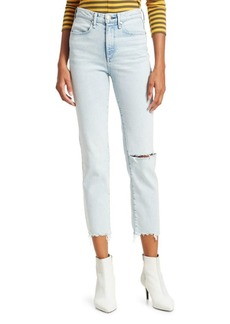 Rag & Bone High-Waist Destructed Cigarette Ankle Jeans