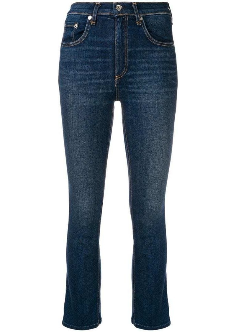 Rag & Bone high waisted cropped jeans