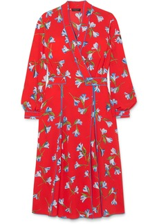 rag & bone Hugo Floral-print Crepe De Chine Wrap Dress