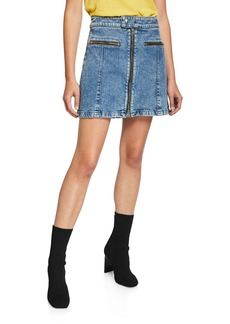 Rag & Bone Isabel Zip-Front Denim Mini Skirt