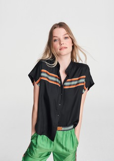 rag & bone ISADORA SHORT SLEEVE TOP