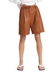rag & bone Ivy Leather Shorts