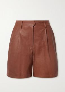 rag & bone Ivy Pleated Leather Shorts