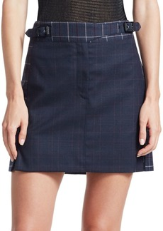 rag & bone James Plaid Mini Skirt