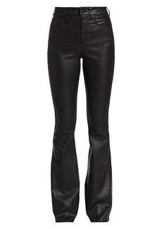 rag & bone Jane Super High-Rise Flare Leather Pants