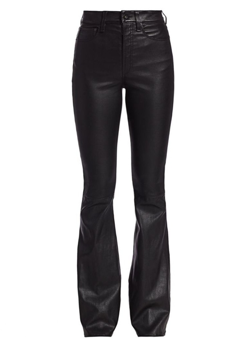 rag & bone Jane Super High-Rise Flare Leather Pants