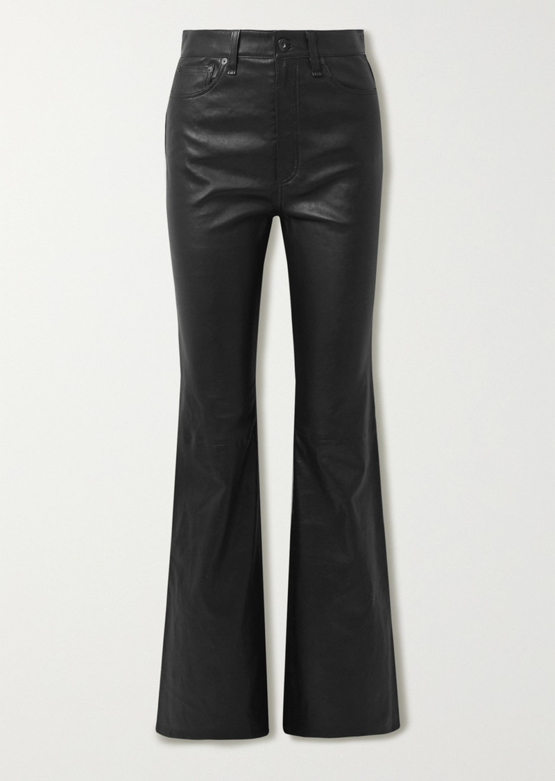 rag & bone Jane Super Leather Flared Pants