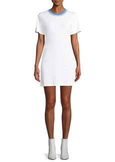 Rag & Bone Jolie Crewneck Mini-Length Tee Dress