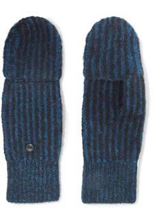 rag & bone Jonie Striped Ribbed-knit Mittens