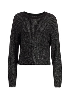 rag & bone Jubilee Metallic Merino Wool-Blend Sweater