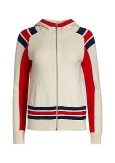 rag & bone Julee Zip-Up Striped Hoodie