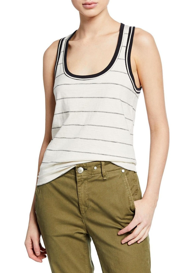 rag & bone Julien Striped Cotton Tank Top