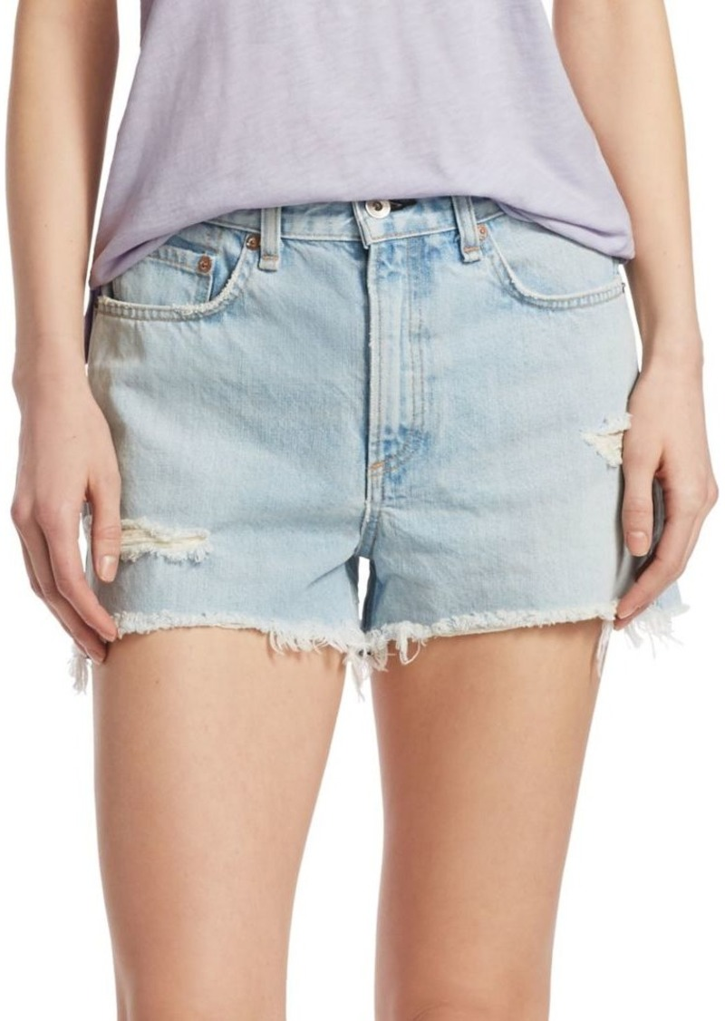 rag & bone Justine Vintage High-Rise Denim Shorts