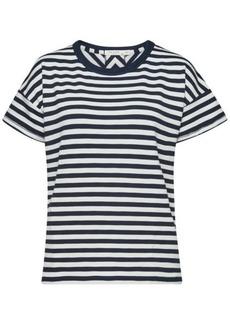 Rag & Bone Kat Striped Cotton T-Shirt with Open Back