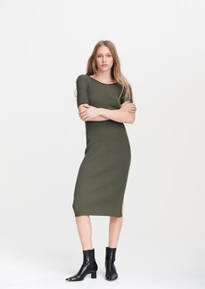 rag & bone KISHI SEAMLESS SHORT SLEEVE DRESS