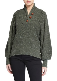 rag & bone Klark Button-Front Sweater