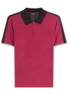 Rag & Bone Knit Colorblock Polo Shirt