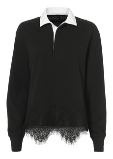 Rag & Bone Lace Rugby Top