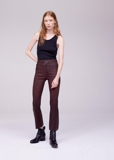 LEATHER CROP FLARE