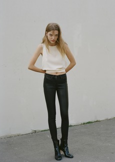 LEATHER HIGH RISE SKINNY PANT