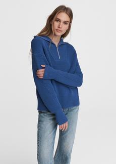 rag & bone Lena Half Zip Cotton Sweater