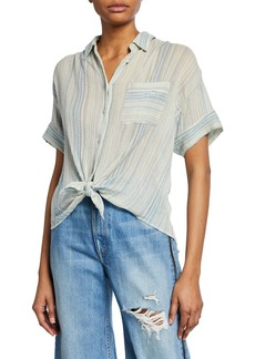 rag & bone Lenny Striped Tie Shirt