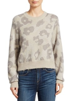 rag & bone Leopard Print Boxy Knit Sweater