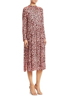 Rag & Bone Leopard Print Velvet Burnout Midi Dress