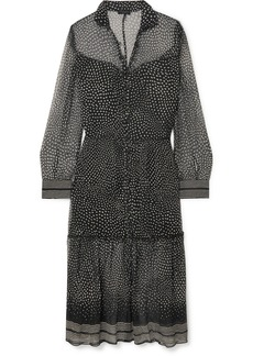 rag & bone Libby Tiered Printed Silk-crepon Dress