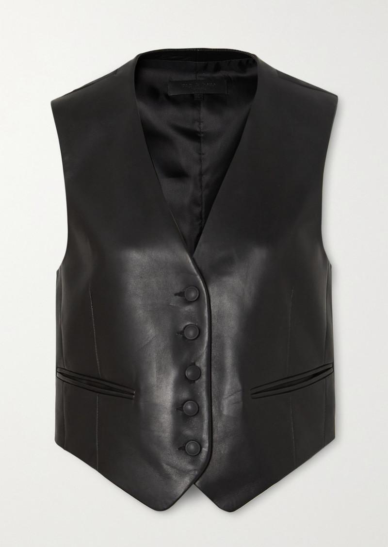 rag & bone Lina Leather Vest