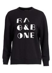 rag & bone Logo Cotton Sweatshirt