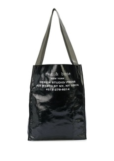 rag & bone logo print shopper tote bag