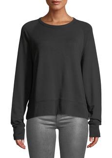 Rag & Bone Long-Sleeve Athletic Crewneck Pullover Sweater