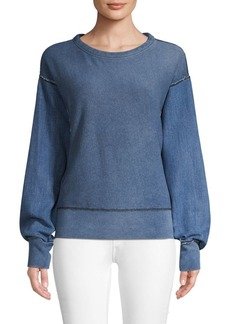 Rag & Bone Long-Sleeve Cotton Sweatshirt