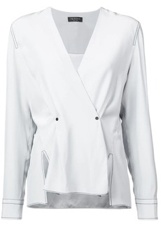Rag & Bone long-sleeve fitted blouse