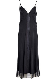 Rag & Bone Lousie Silk Slip Dress with Mesh and Chiffon