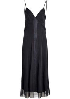 Rag & Bone Lousie Silk Slip Dress with Mesh and Chiffon