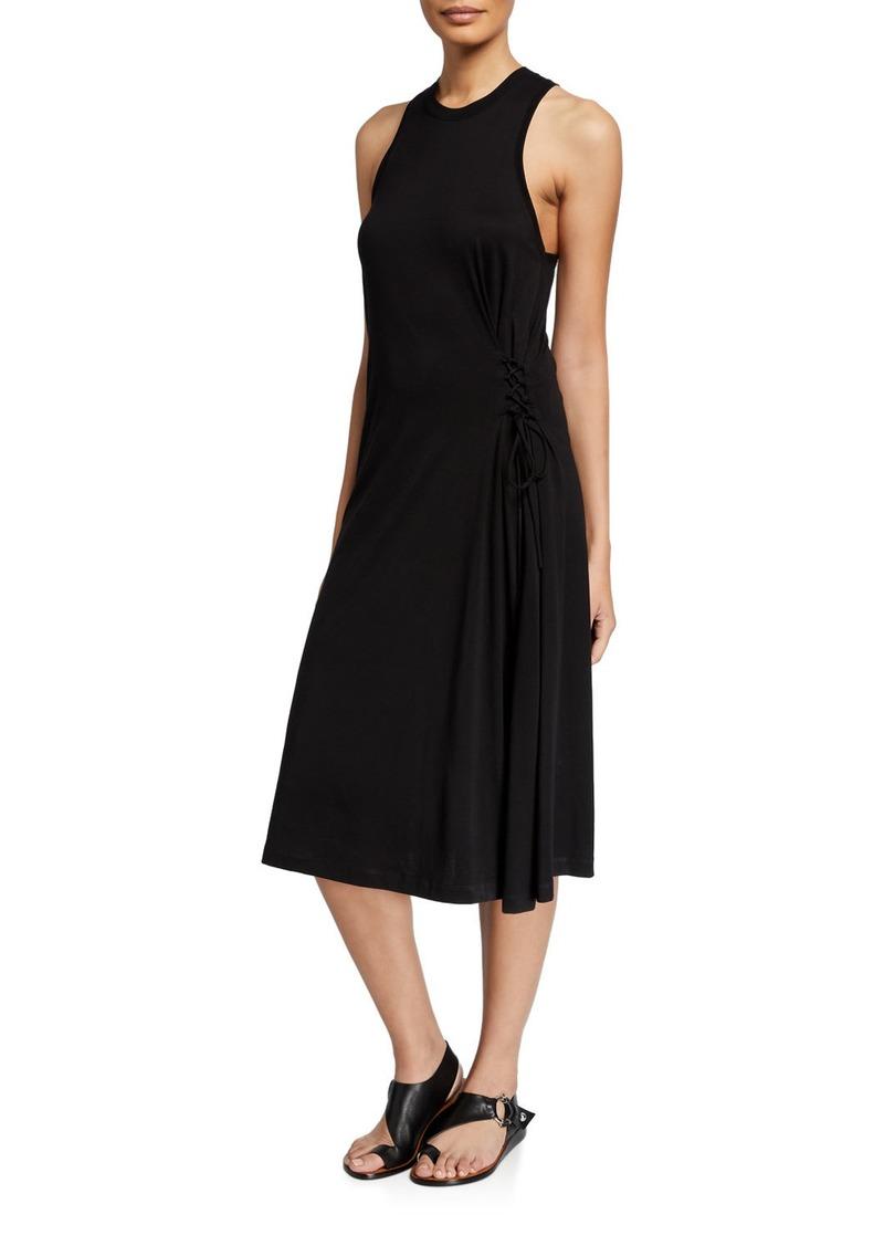 rag & bone Luca Crewneck Sleeveless Lace-Up Dress