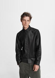 rag & bone Lucas Shirt - Leather