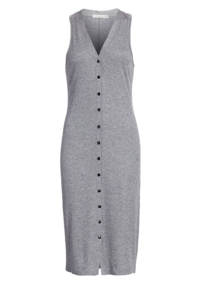 rag & bone Mac Button-Front Midi Tank Dress