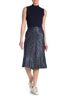 rag & bone Mandy Floral Print Satin Midi Skirt