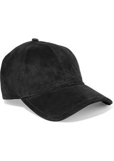 rag & bone Marilyn Leather-trimmed Suede Baseball Cap