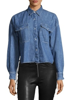rag & bone Mason Cropped Denim Shirt