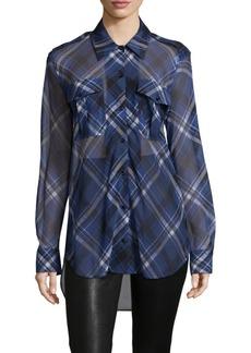 Rag & Bone Mason Long-Sleeve Silk Patterned Shirt