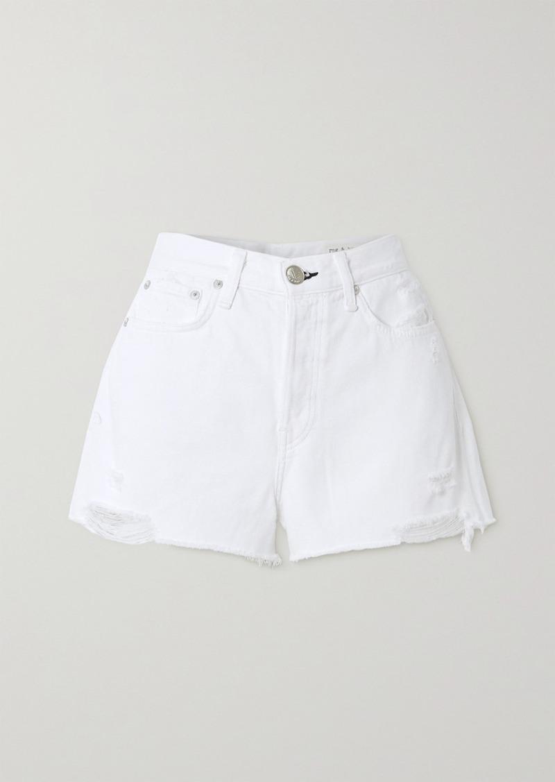 rag & bone Maya Distressed Denim Shorts