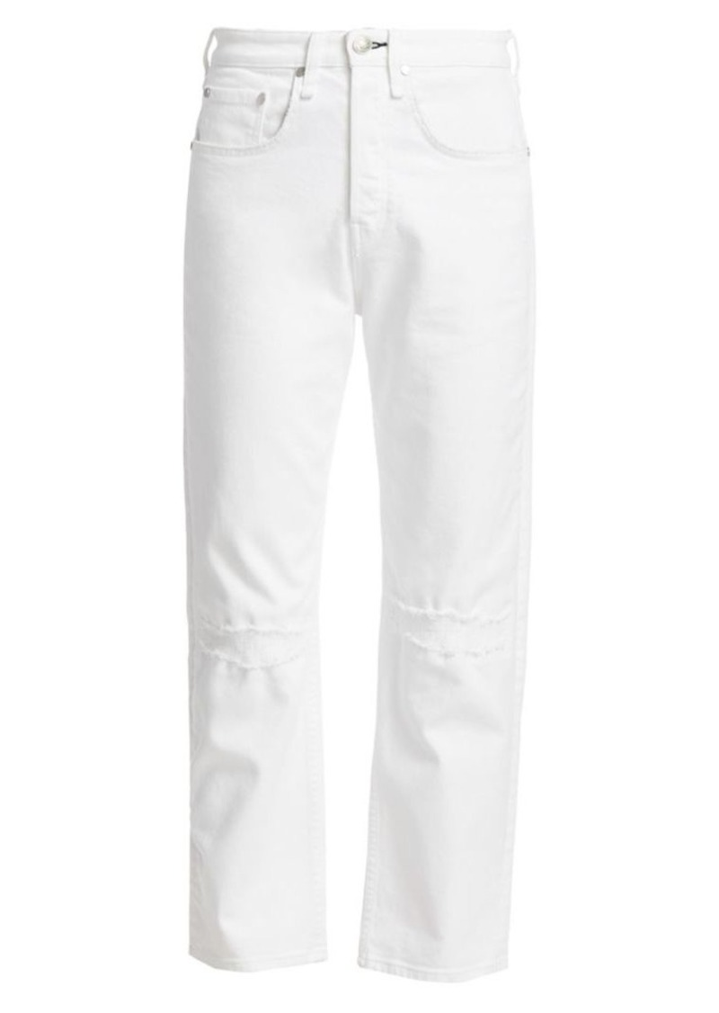 rag & bone Maya High-Rise Ankle Straight Leg Jeans