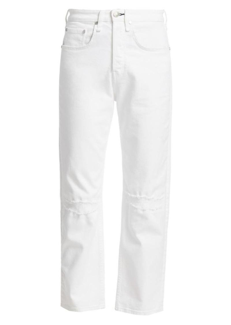 rag & bone Maya High-Rise Ankle Straight Leg Jeans