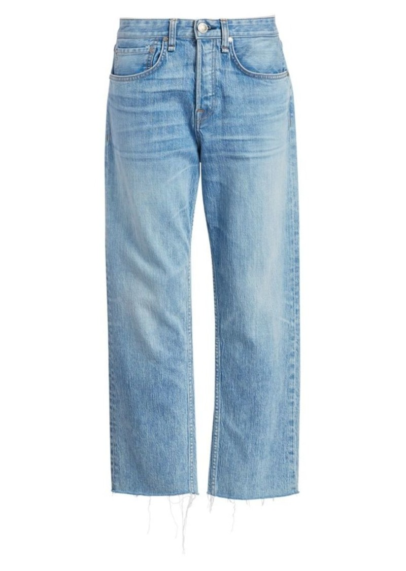 rag & bone Maya High Rise Cropped Ankle Straight Jeans